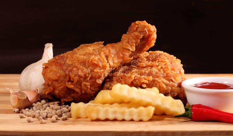 Pieczonego kurczaka i francuza dłoniaki obraz royalty free