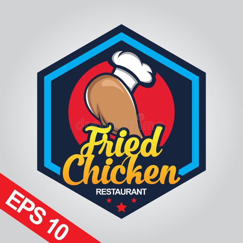 Pieczonego kurczaka logo ilustracja wektor