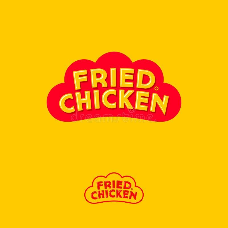 Pieczonego kurczaka logo Listy na formie jak czerwona kogut grępla Monochromatyczna opcja royalty ilustracja
