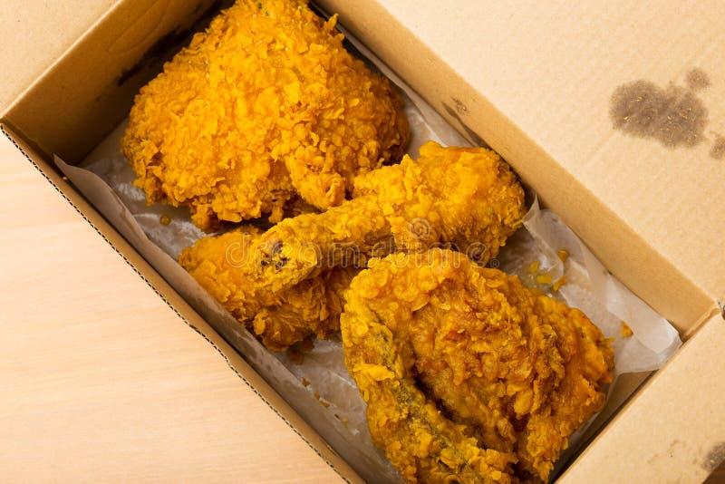 Pieczony kurczak bierze daleko od zdjęcia royalty free