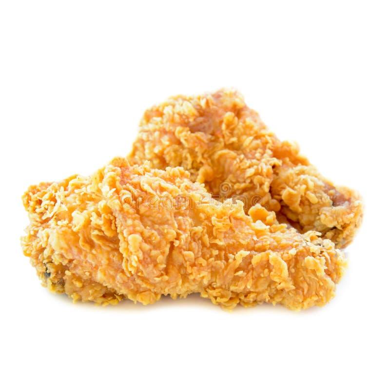 Pieczony kurczak nogi odizolowywać na białym tle obrazy royalty free