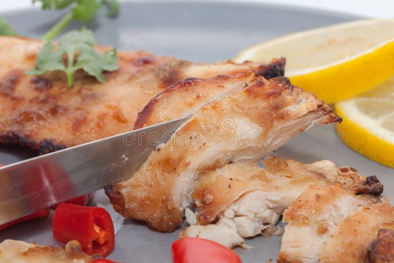 Pieczony kurczak z chili, cytryna zdjęcia stock