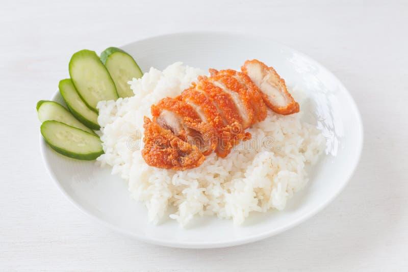 Pieczonych kurczaków ryż obrazy stock