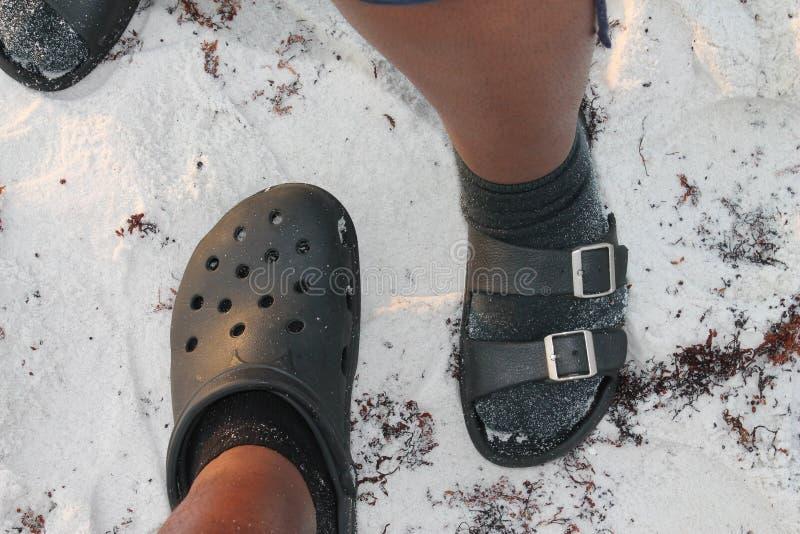 Pied au pied images stock