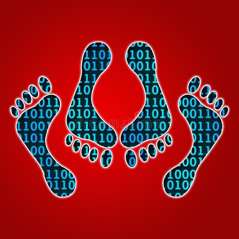 Pied de sexe de Cyber illustration libre de droits