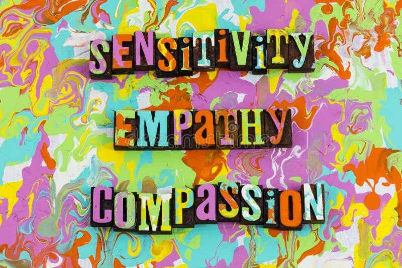 Piedade da empatia da sensibilidade ilustração do vetor