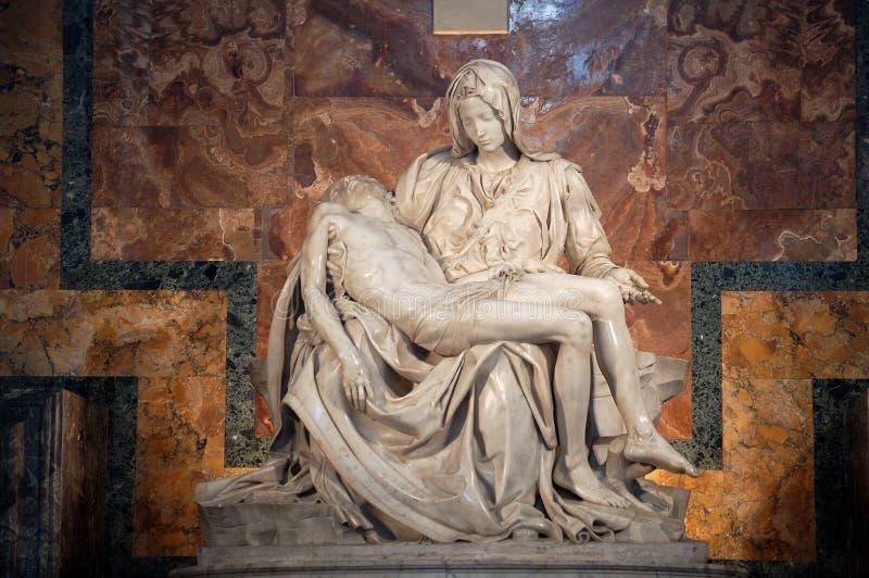 A piedade (Michelangelo) fotos de stock