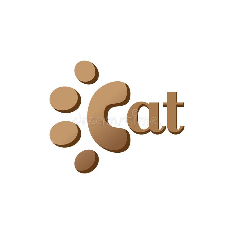 Piede Cat Kitten Veterinarian Text Illustration di orme illustrazione vettoriale