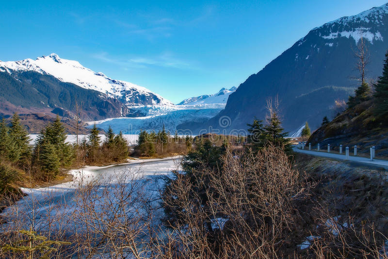 Piede del ghiacciaio fotografie stock libere da diritti