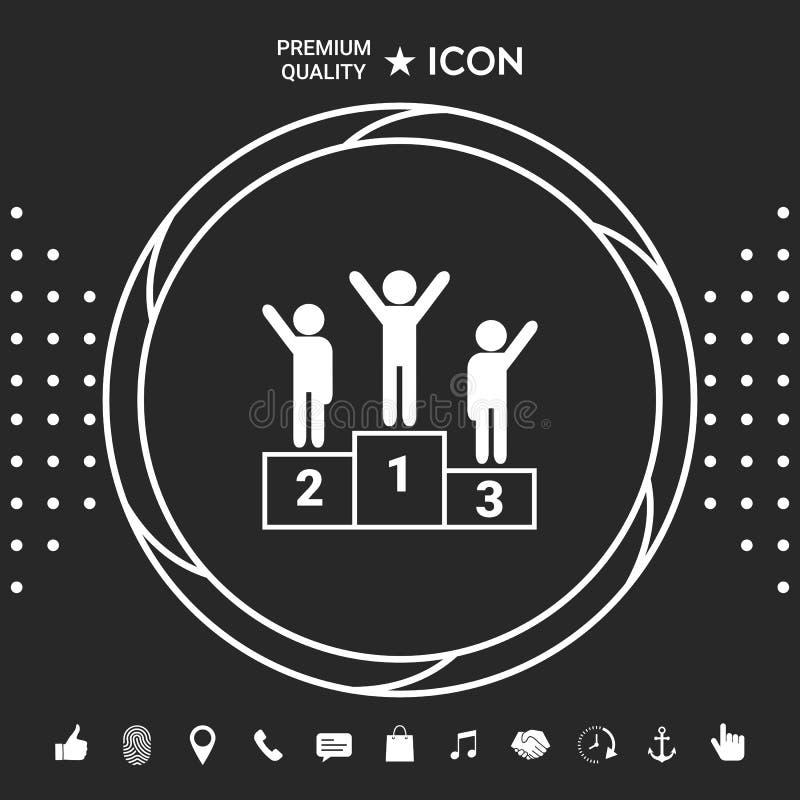 Piedestał - podium ikona Graficzni elementy dla twój designt ilustracji