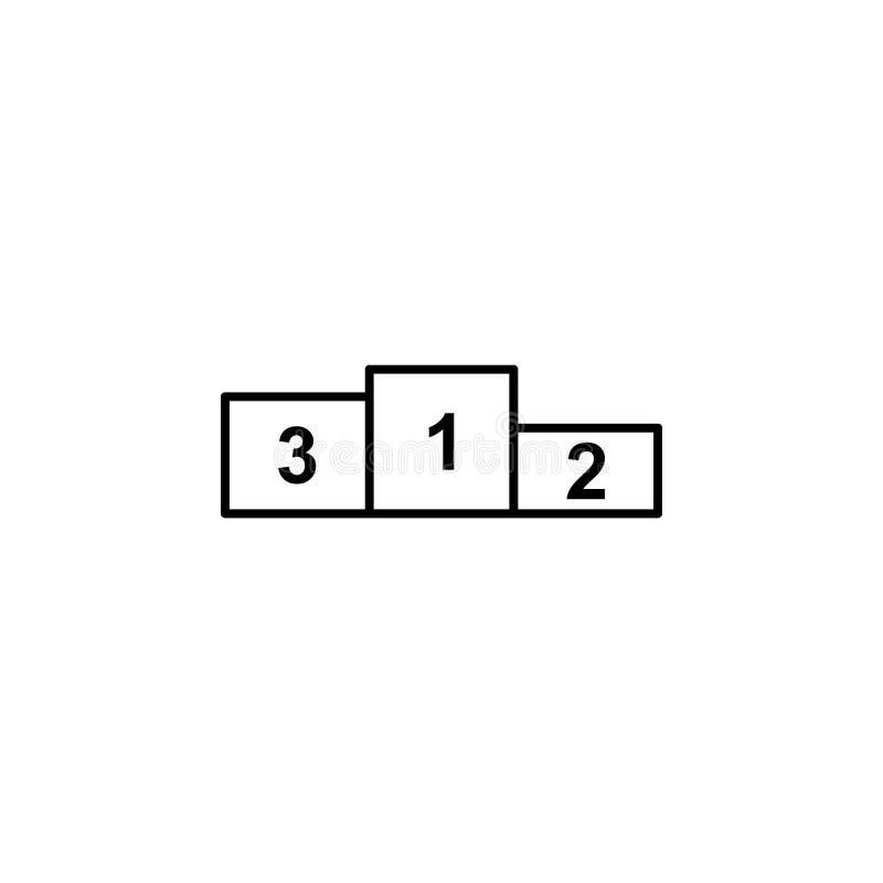 Piedestał, zwycięzca, sporta konturu ikona Element zima sporta ilustracja Znaki i symbol ikona mogą używać dla sieci, logo, ilustracja wektor