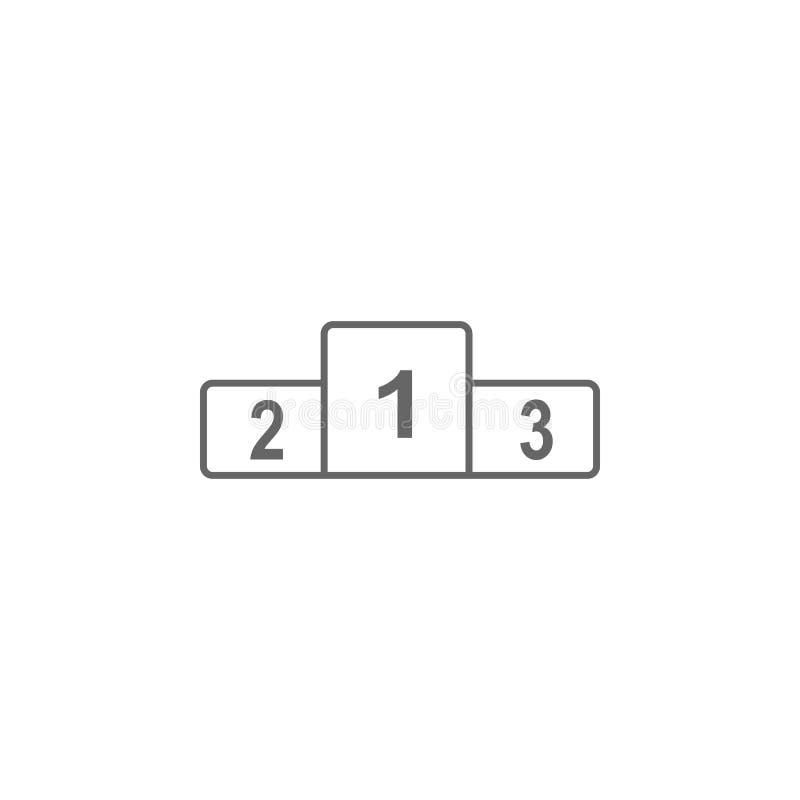 Piedestału podium ikona Prosta element ilustracja Piedestału podiumsymbol projekta szablon Może używać dla sieci i wiszącej ozdob ilustracja wektor
