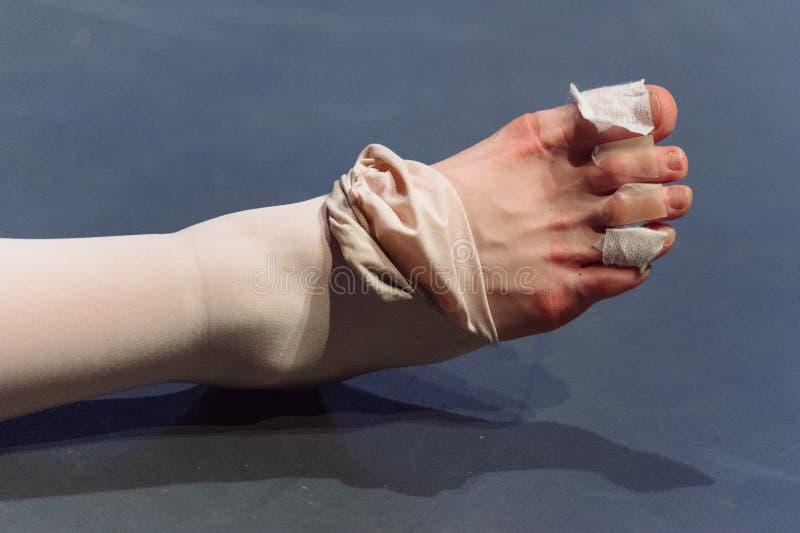 Piedi del ballerino di balletto immagini stock libere da diritti