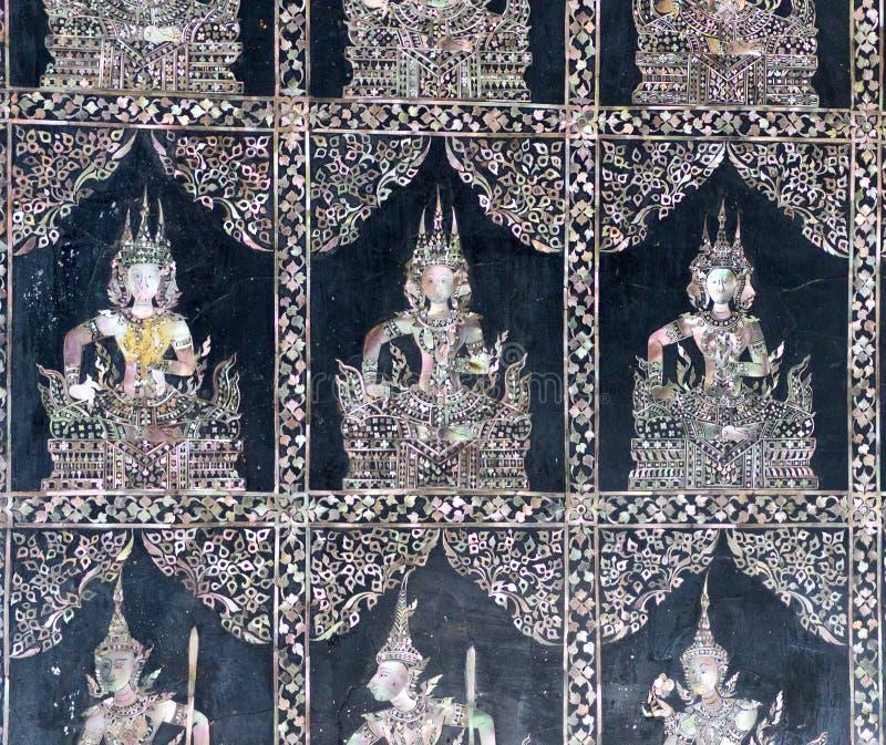 Piedi di Buddha adagiantesi, Bangkok fotografie stock libere da diritti