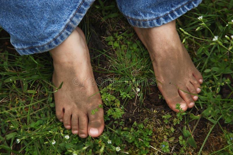 piedi sporchi fotografie stock libere da diritti