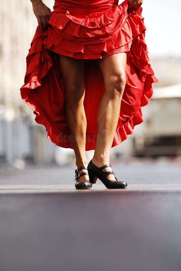 Piedini atletici del danzatore di flamenco immagine stock libera da diritti