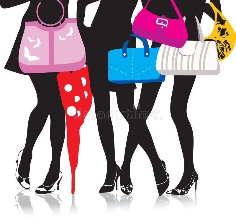 Piedini con i sacchetti royalty illustrazione gratis