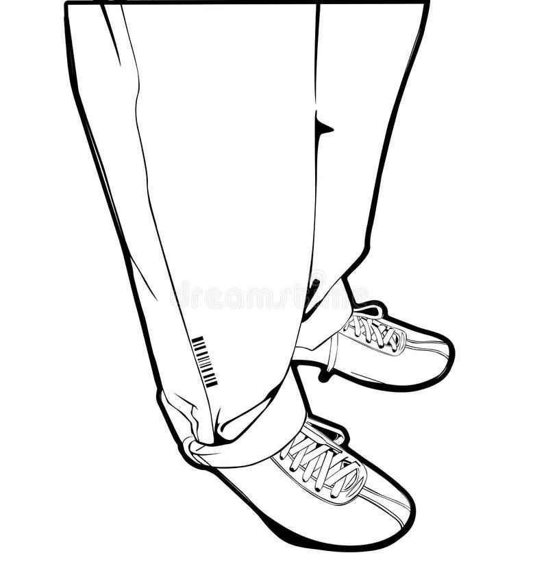Piedini degli uomini illustrazione vettoriale