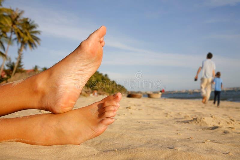 Piedini della spiaggia fotografia stock libera da diritti