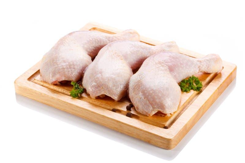 Piedini di pollo grezzi freschi immagini stock