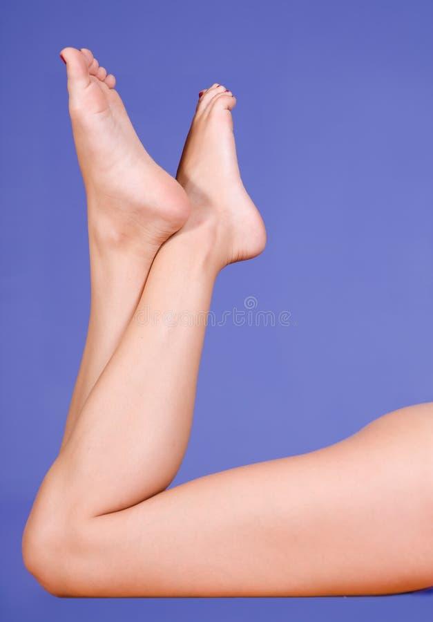 Piedini femminili immagini stock