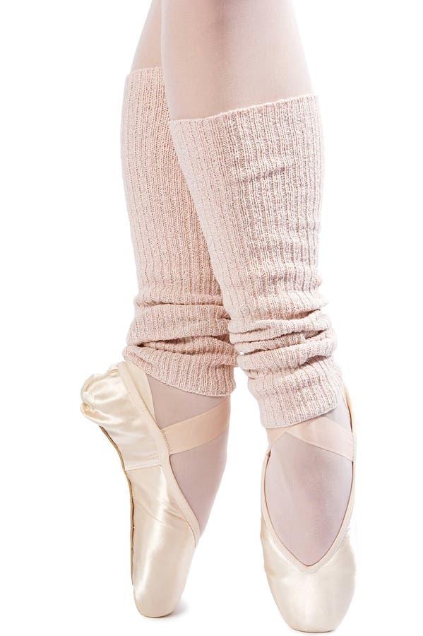 Piedini in pattini di balletto 1 fotografia stock libera da diritti