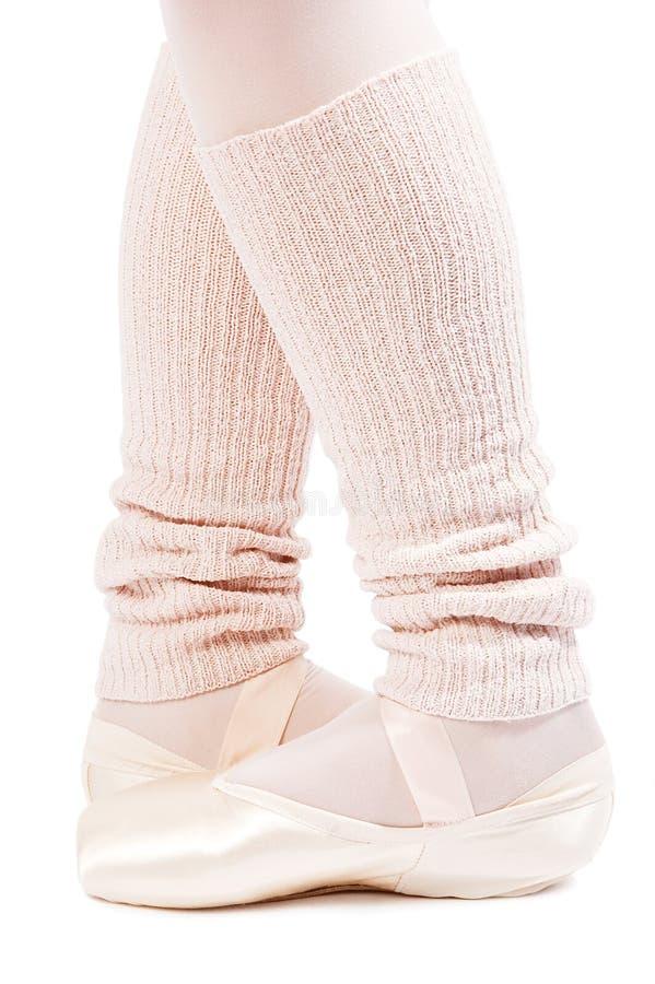 Piedini in pattini di balletto 3 immagine stock