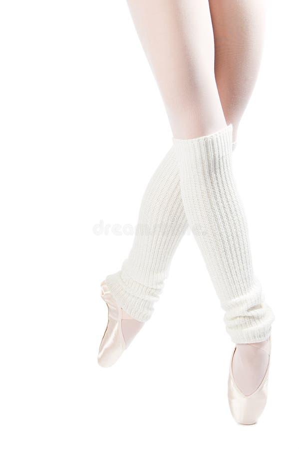 Piedini in pattini di balletto 4 fotografie stock