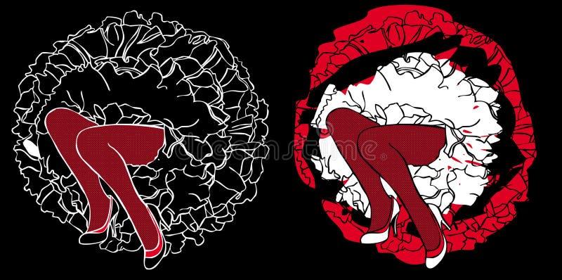 Download Piedini Womanish illustrazione di stock. Illustrazione di arte - 7314459