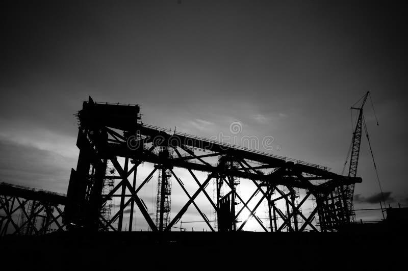 Piedino in bianco e nero del rivestimento di alto contrasto fotografie stock