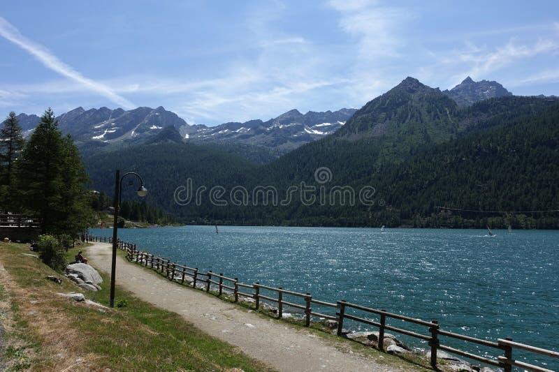 Ceresole reale Piedmont The Gran Paradiso National Park. Cerasole Piedmont Italy lake The Gran Paradiso National Park in French, Parc national du Grand-Paradis stock image