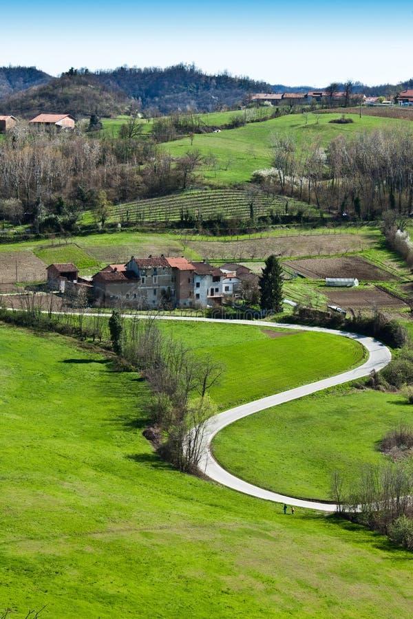 Piedmont landscape - Italy stock photo