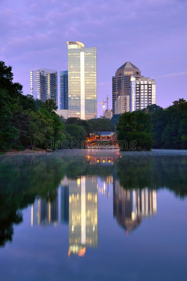 Piedmont Park in Atlanta royalty free stock images