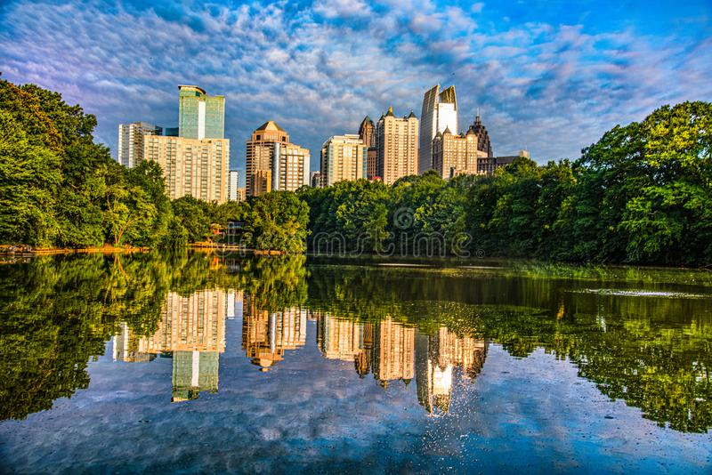Piedmont Park in Atlanta Georgia GA.  royalty free stock images
