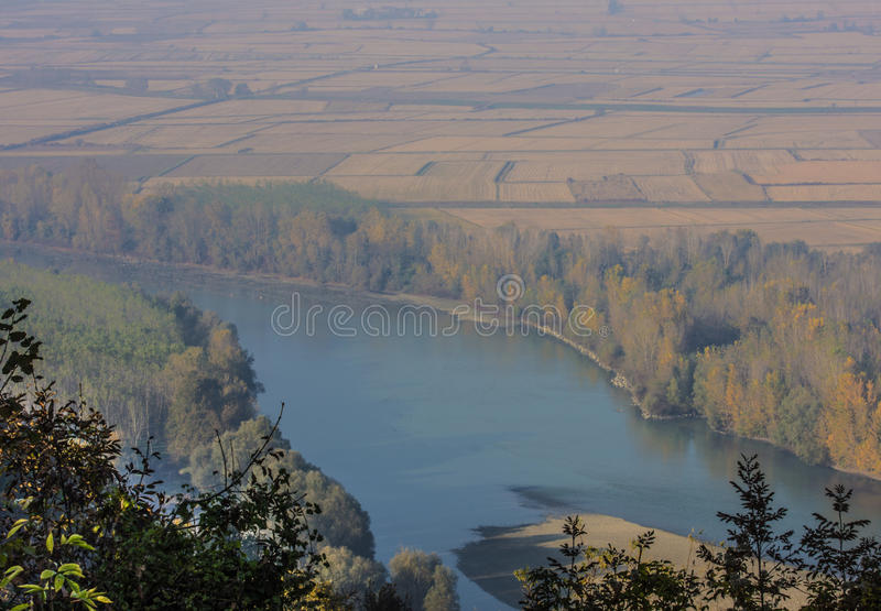THE PIEDMONT VALLEY IN AUTUMN royalty free stock photos