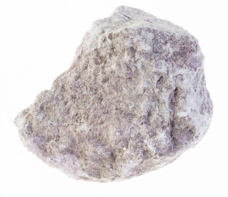 piedra áspera de la marga (mergel, lutolita) en blanco foto de archivo libre de regalías