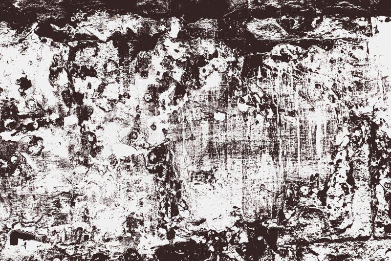 Piedra agrietada de la pared del fondo de BW imagen de archivo libre de regalías