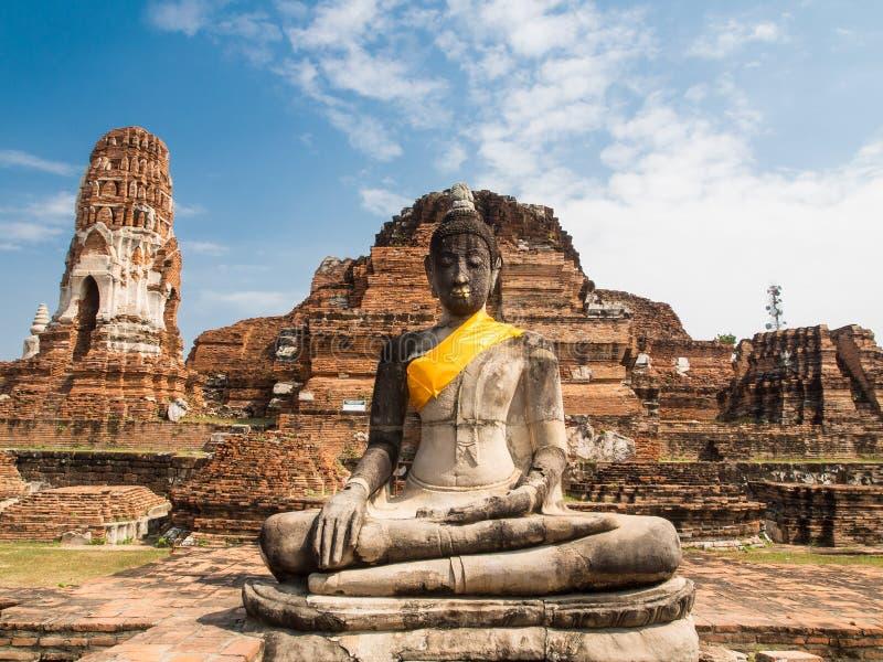 Piedra arenisca Buddha imágenes de archivo libres de regalías
