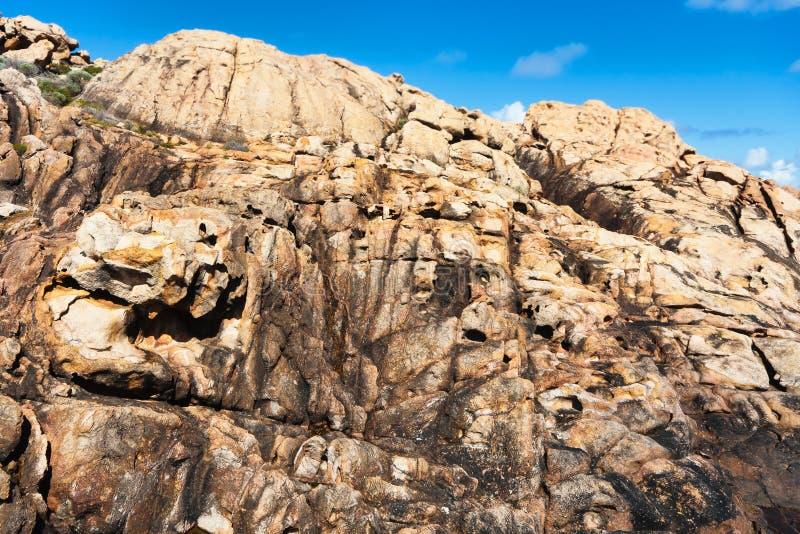 Piedra arenisca en las rocas del canal, Australia imágenes de archivo libres de regalías