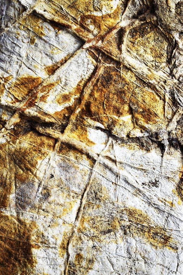 Piedra caliza superficial con las venas imagen de archivo