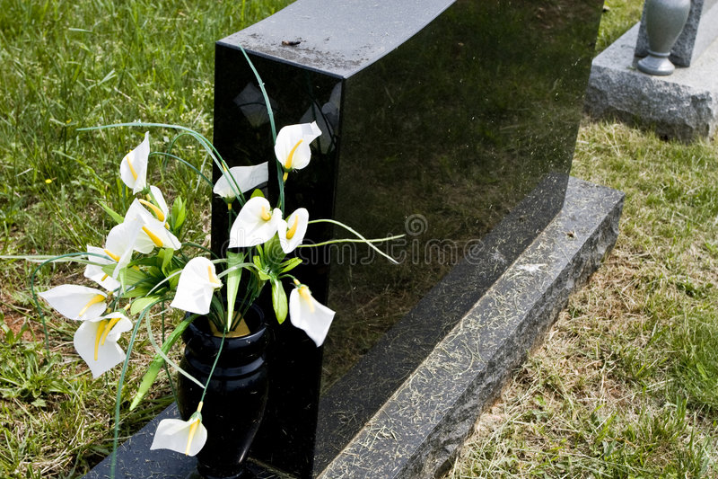 Piedra conmemorativa en blanco foto de archivo