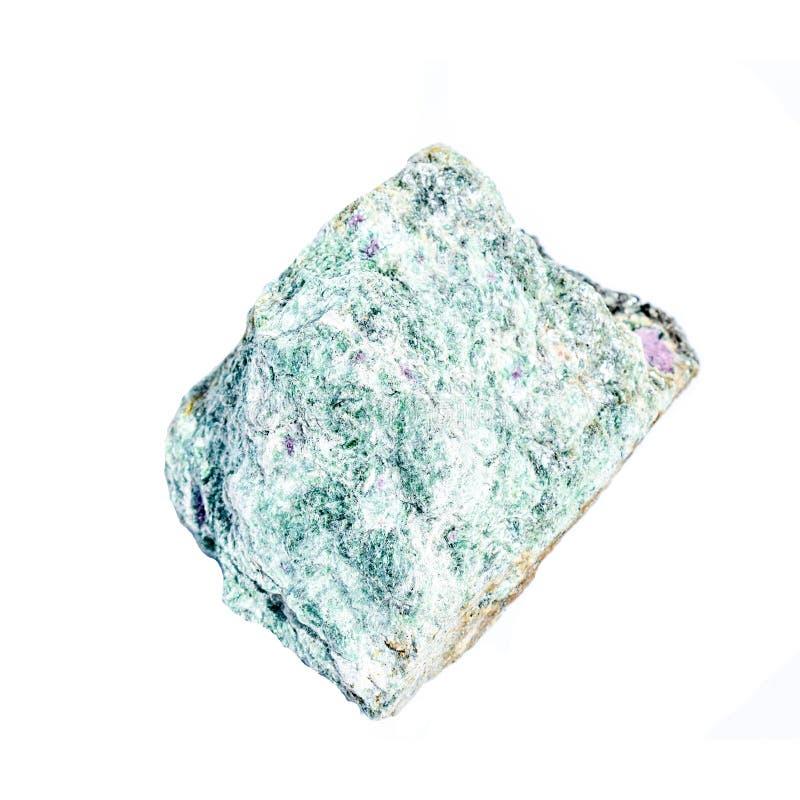 Piedra de curación de cristal de Fuchsite crudo fotografía de archivo