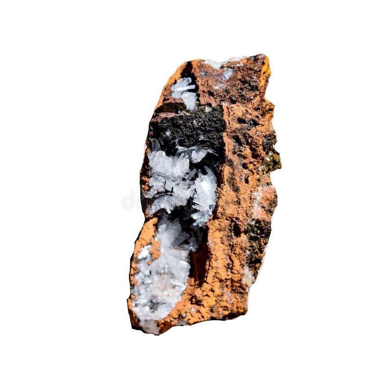 Piedra de curación de cristal de hemimorfito crudo imagenes de archivo