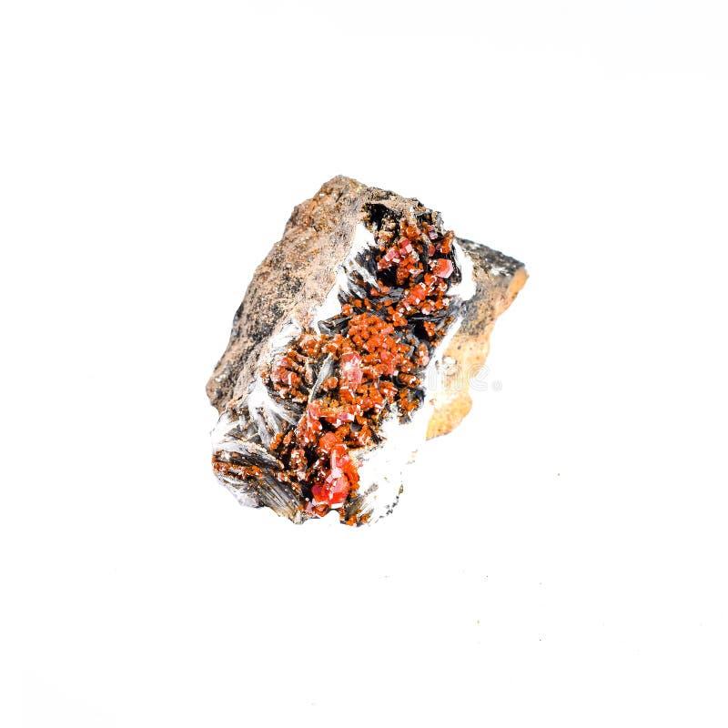 Piedra de curación de cristal de Vanadinita cruda imagen de archivo libre de regalías