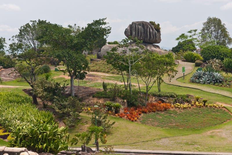 Piedra de la cebolla en Vitoria Espirito Santo el Brasil fotografía de archivo libre de regalías