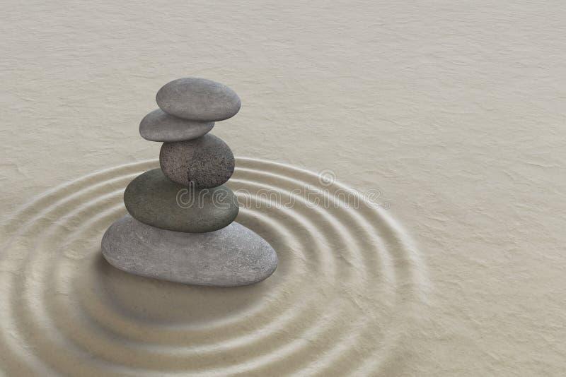Piedra de la meditación del jardín del zen imagen de archivo