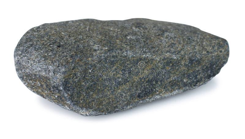 Piedra de la roca aislada en el fondo blanco con la trayectoria de recortes fotos de archivo libres de regalías