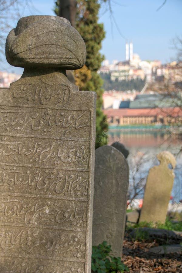 Piedra de la tumba antigua, el período de Ottoman, Turquía foto de archivo