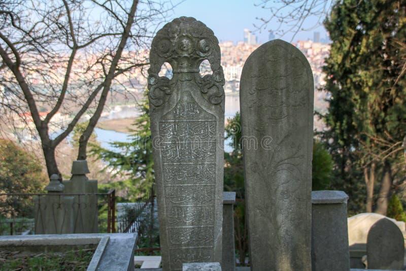 Piedra de la tumba antigua, el período de Ottoman, Turquía fotografía de archivo libre de regalías