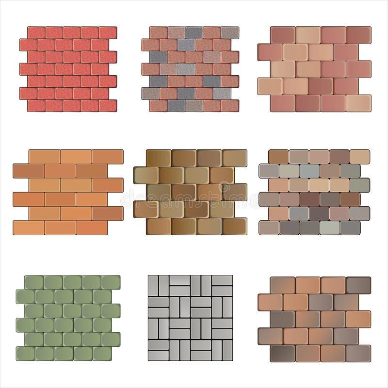 Piedra de pavimentación stock de ilustración